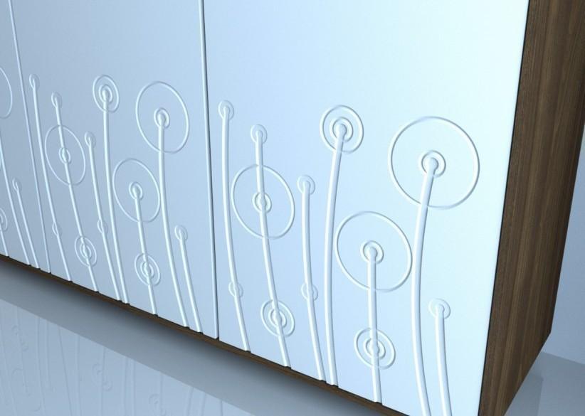 biały panel dekoracyjny